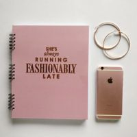 Card Affairs She's Always Fashionably Late Gold Edition Planner - Pink
