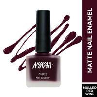 Nykaa Matte Nail Enamel Polish - Ruby Blaze 120