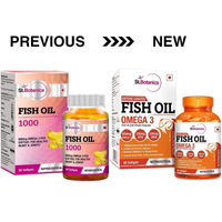 StBotanica Fish Oil 1000mg Double Strength 650mg Omega 3 with 330mg EPA, 220mg DHA