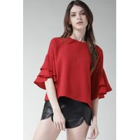 Twenty Dresses Drop The Red Flare Top