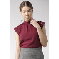 Twenty Dresses Maroon Laced In Love Top