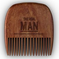 The Real Man Wooden Beard Comb