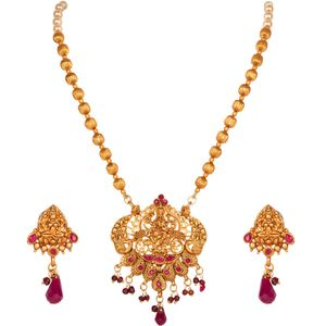 Anika S Creation Exclusive South Indian High Gold Plated Temple