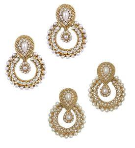 Youbella Combo Of Designer Traditional Pearl And American Diamond