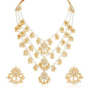 Trushi By Sukkhi Modern Gold Plated Necklace Set At Nykaa Com