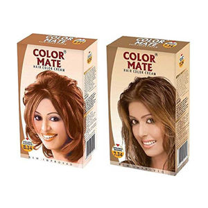 Color Mate Golden Brown & Golden Copper Hair Color Cream