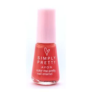 Simply Pretty Avon Color Me Pretty Nail Enamel - Cool Coral