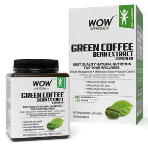 Wow Life Science Green Coffee Bean Extract Vegetarian Capsules