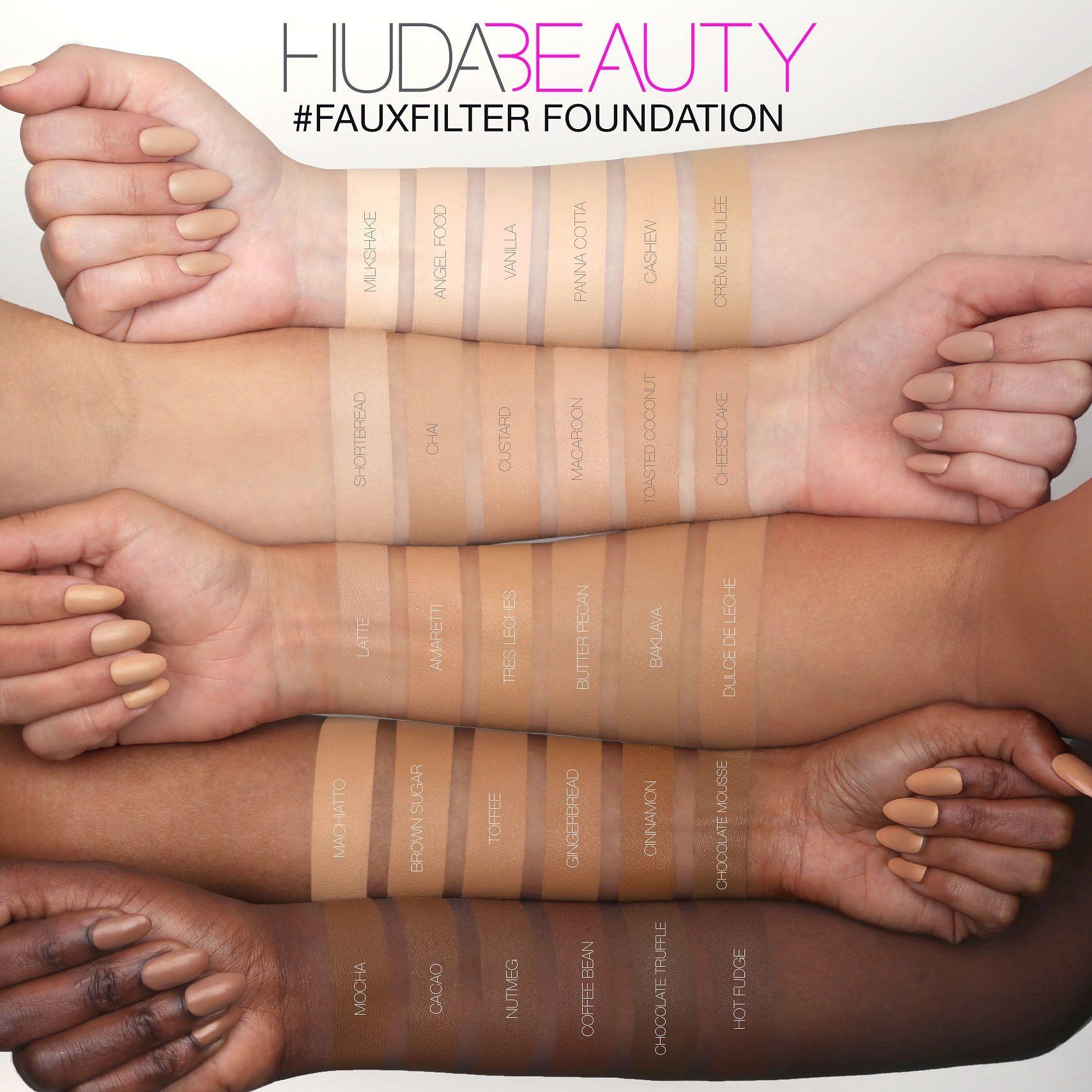 Huda Beautyfauxfilter Tres 35ml 320g Foundation Leches edCrBxo
