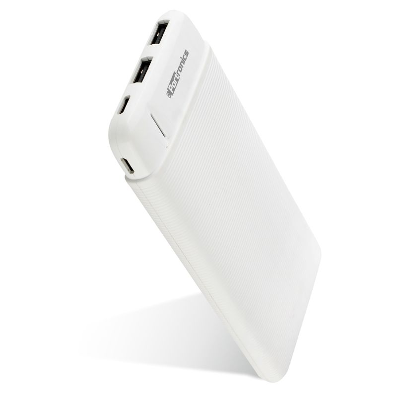 Portronics Power Pro 10k 10000mah Power Bank With Dual Output Emergency Mobile Charger  white