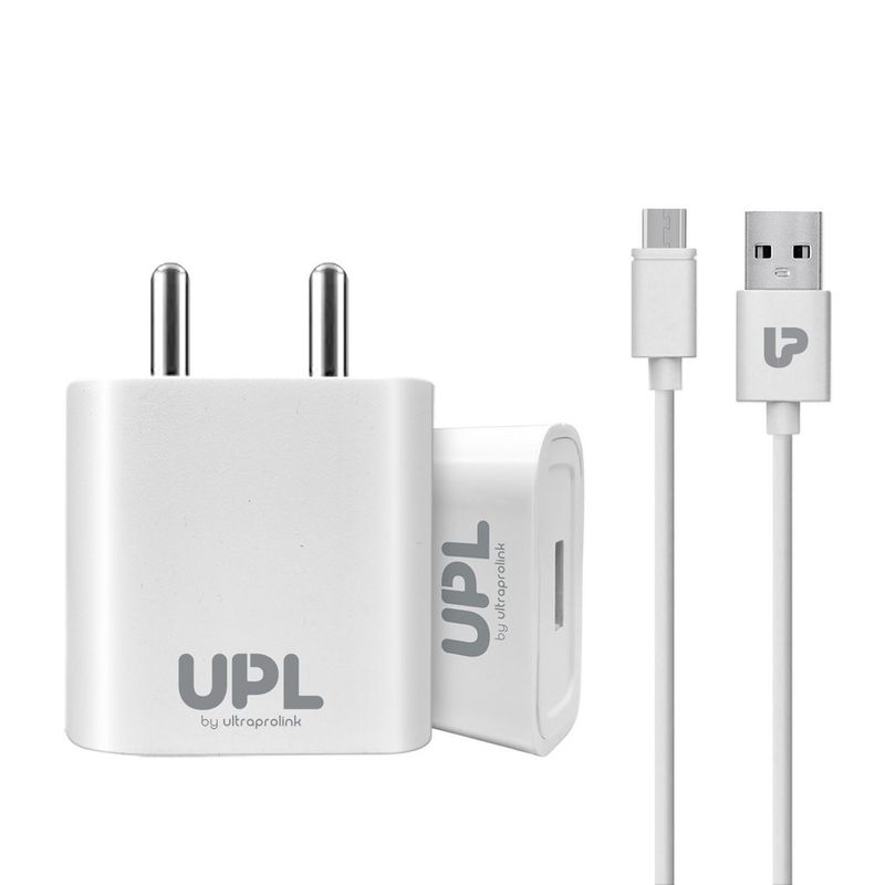 UltraProLink Upl0004m Volo 2.1a Usb Fast Wall Charger/travel Charger With 1m Micro Usb Cable 10.5w