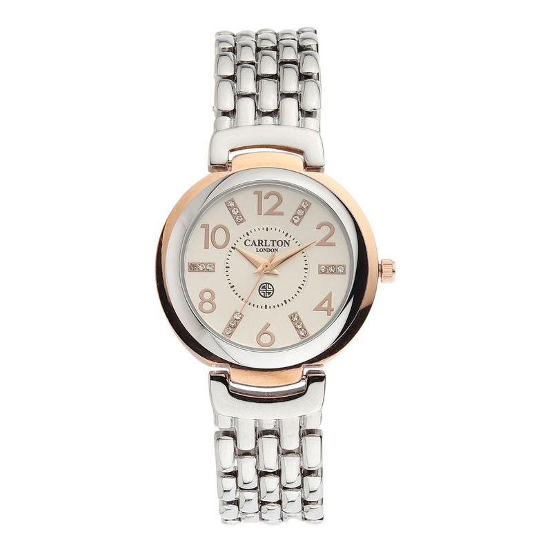 Carlton London Watches Women Silver Analog Watch Cl045rgsl2