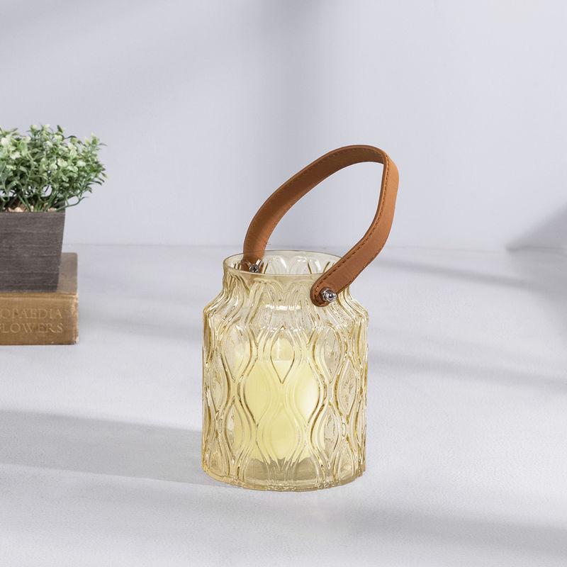 Pure Home + Living Amber Glass Lantern