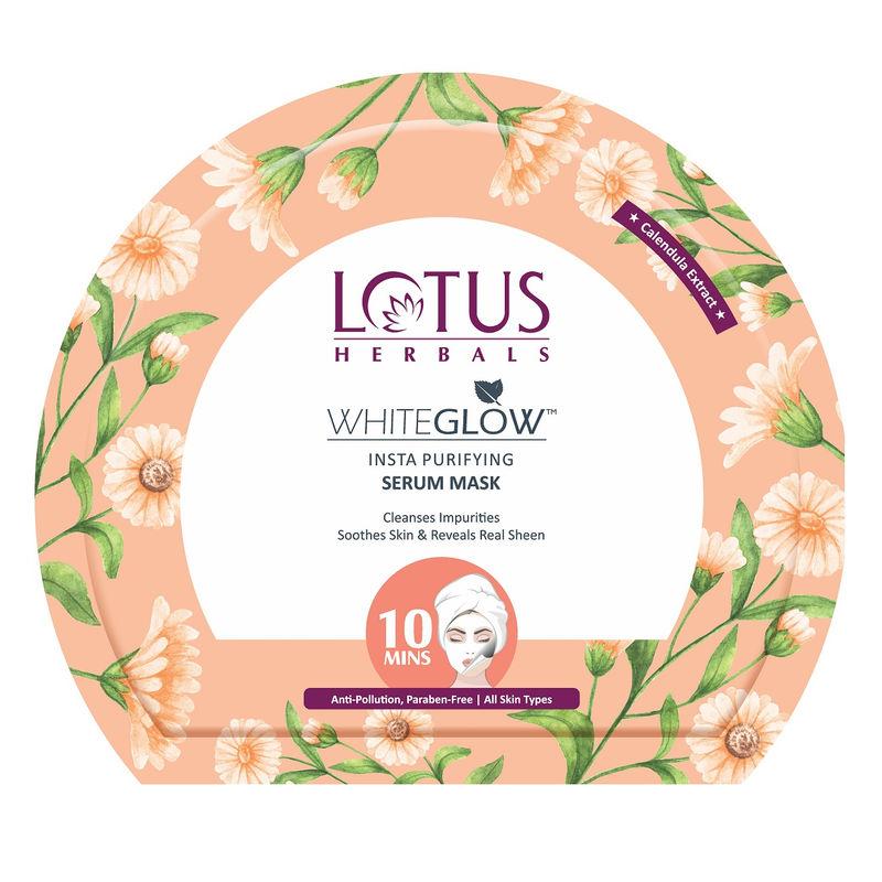 Картинки по запросу Lotus Herbals WhiteGlow Insta Purifying Serum Mask 20 г.