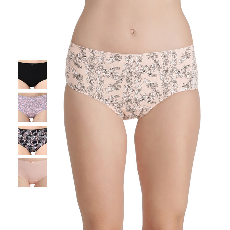 Enamor CR18 Mid Waist Hipster Panty Pack of 5 - Multicolor (S) - CR18