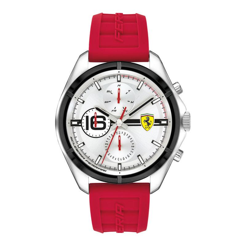 Scuderia Ferrari Speedracer 0830783 Silver Dial Analog Watch For Men