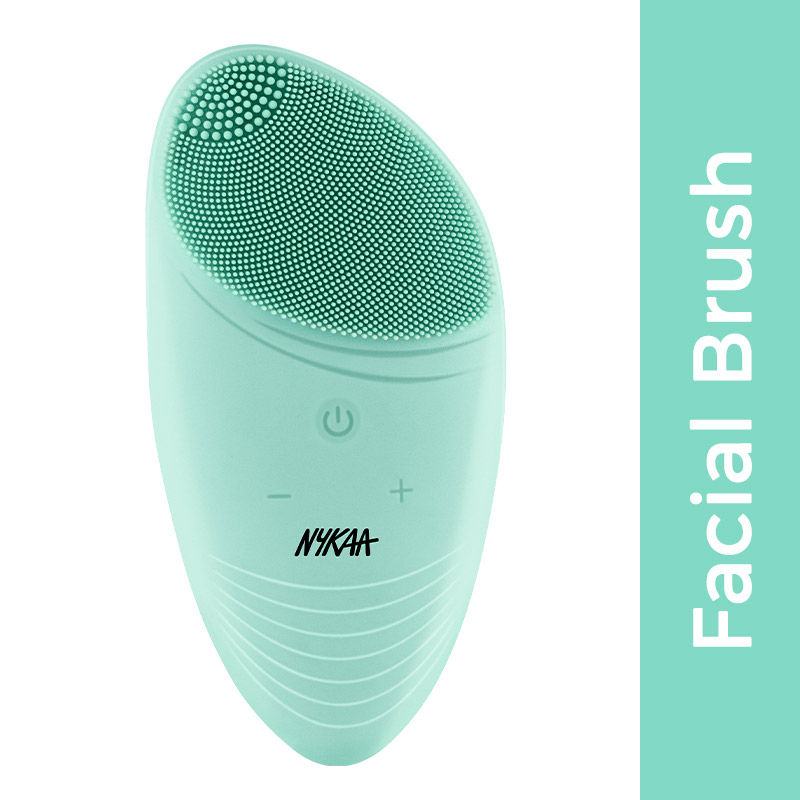 Nykaa Naturals CleanTouch 2 in 1 Face Brush & Massager for Deep Cleansing & Exfoliation - Green