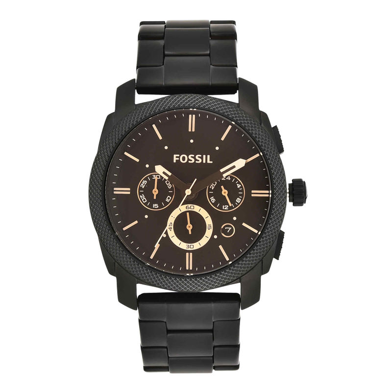 Fossil FS4682 Machine Black Watch For Men