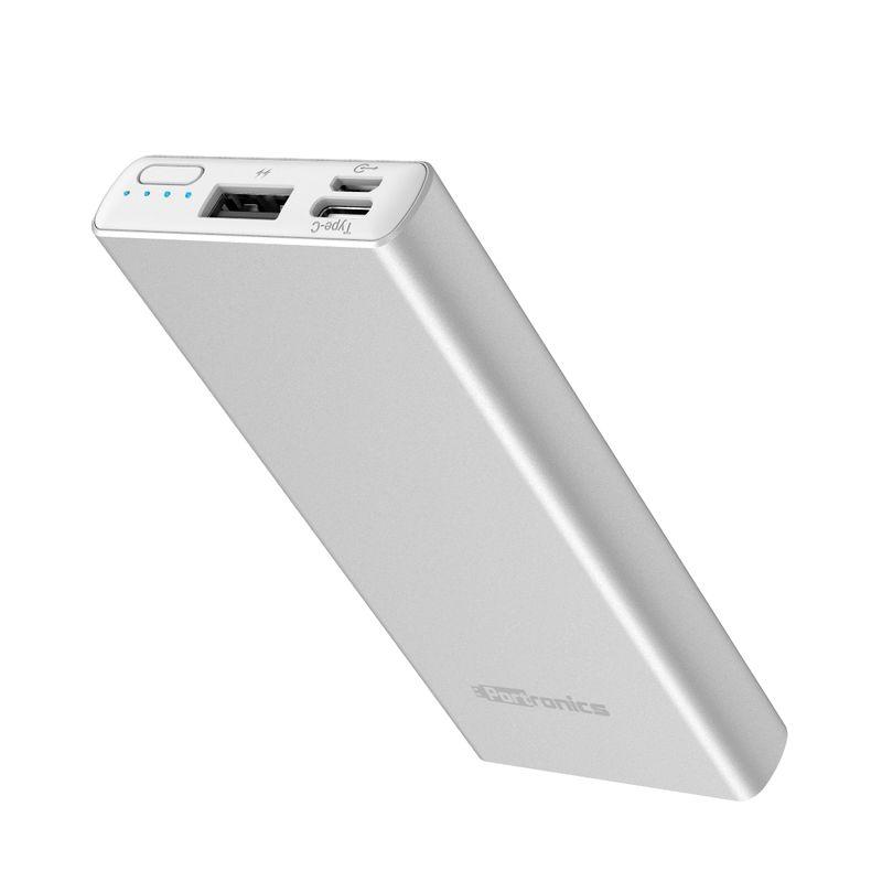 Portronics Por 989 Power Perk 5k 5000 Mah Power Bank With Dual Input  micro + Type C  Black