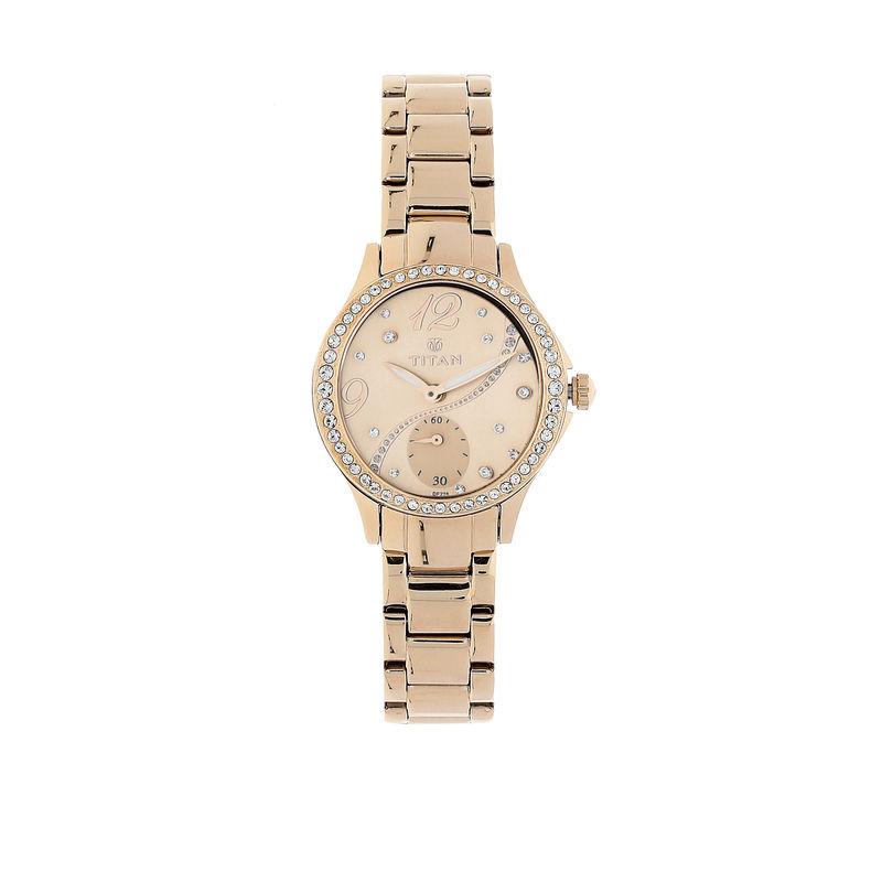 Titan NL95024WM01 Rose Gold Dial Analog Watch For Women