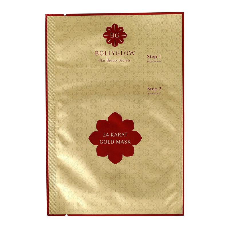 d14c6380e4 BOLLYGLOW 24 Karat Gold Sheet Face Mask - 24K Bio-cellulose at Nykaa.com