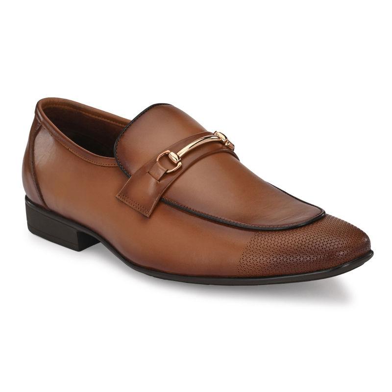 Hitz Tan Leather Formal Shoe - Uk 6
