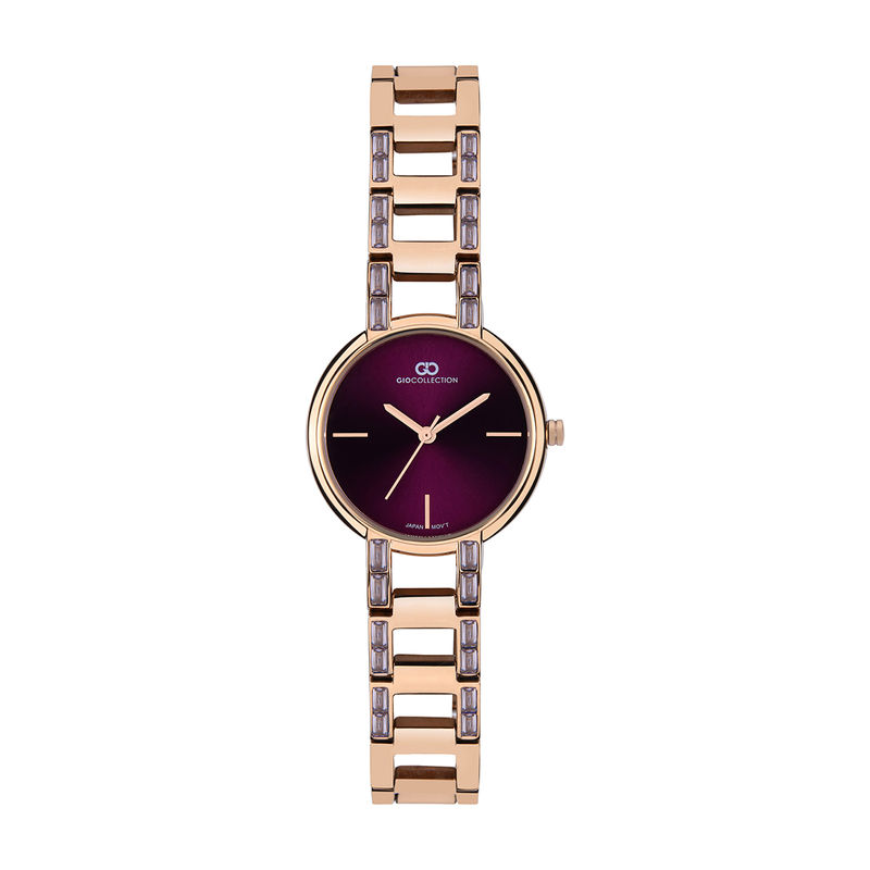 Gio Collection Analog Silver Dial Women's Watch