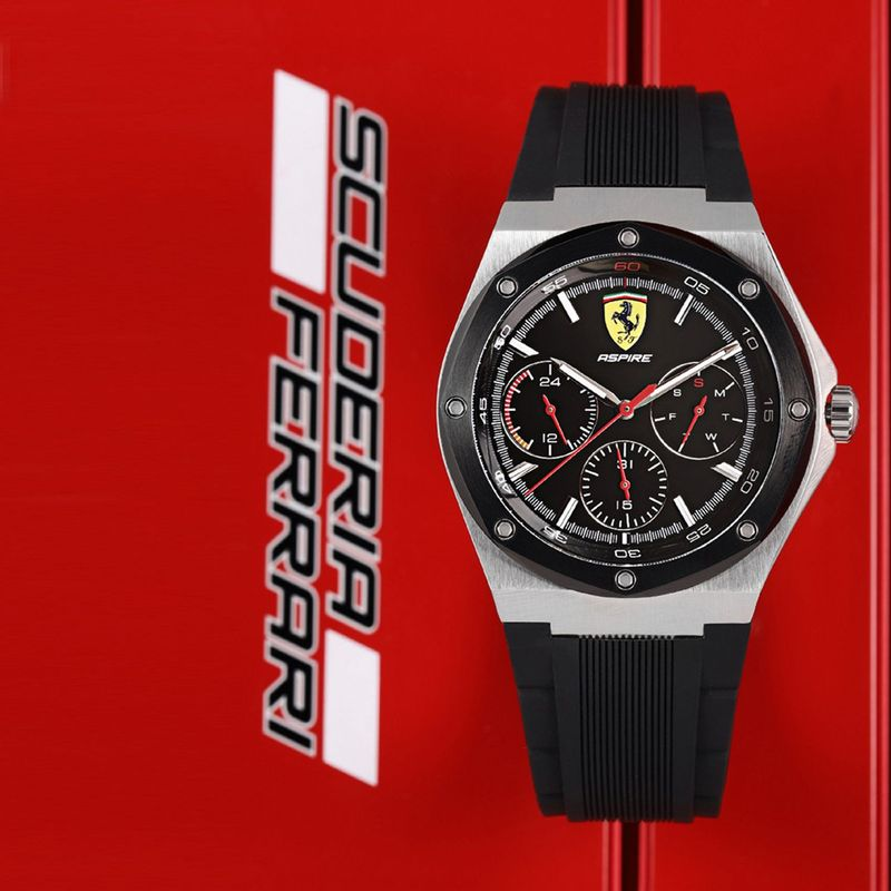 Scuderia Ferrari Aspire 0830537 Black Dial Analog Watch For Men