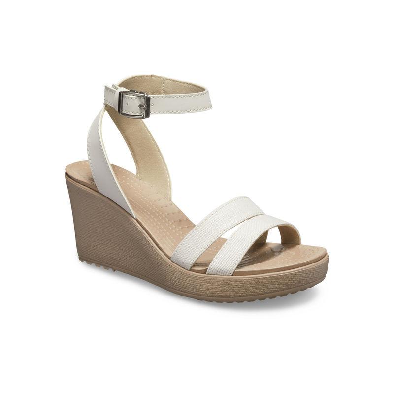 Crocs White Leigh Women Wedges