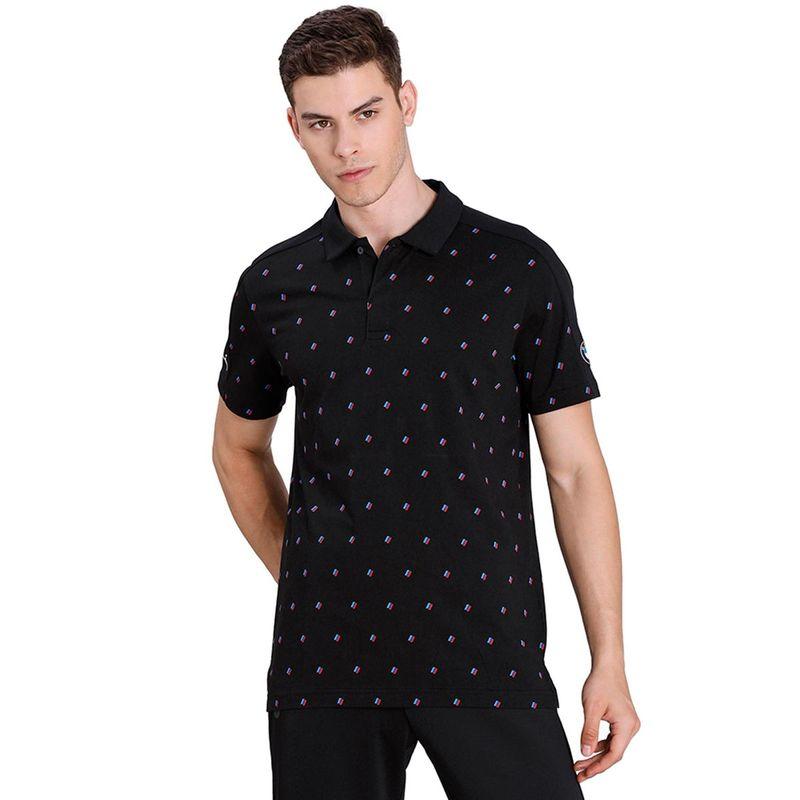 Puma Bmw M Motorsport Aop Regular Fit Men's Polo Shirt - Black (S)