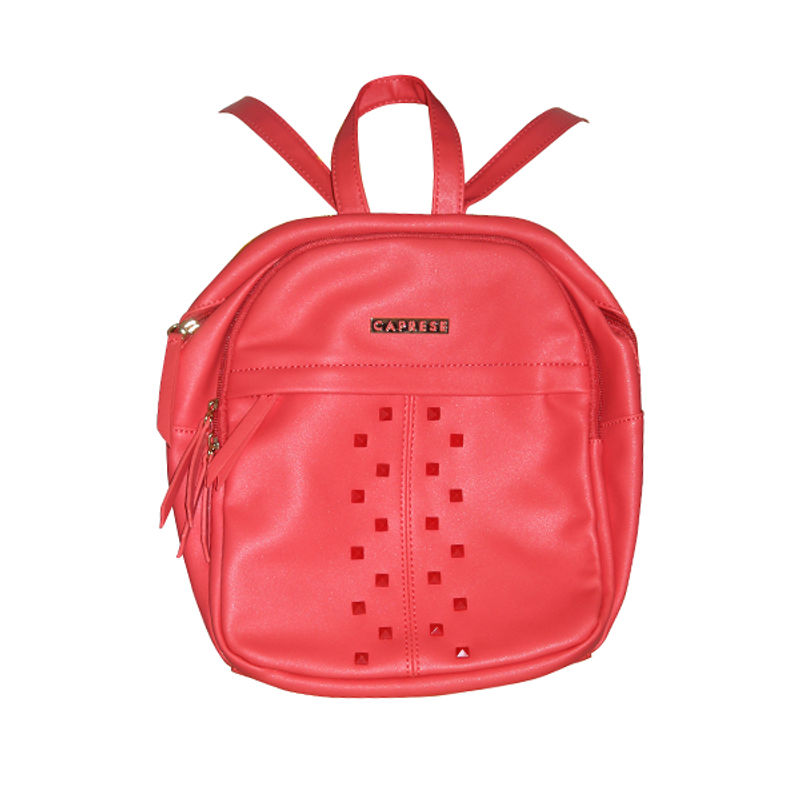 Caprese Lola Medium Red Backpack