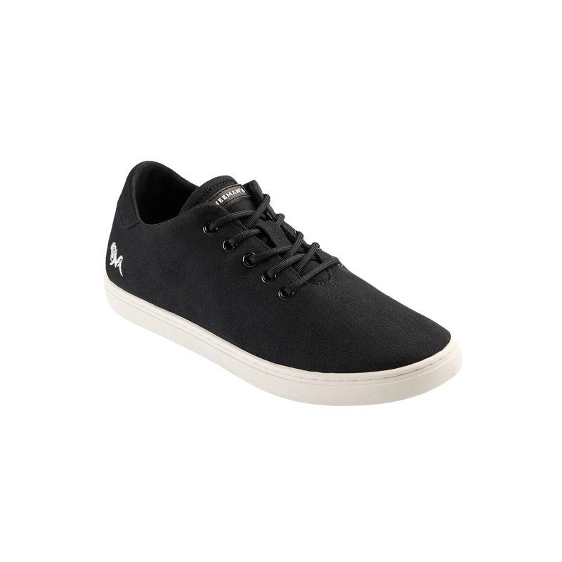 Neemans Cotton Classic Unisex Coal Black With White Sole Sneakers - Uk 4