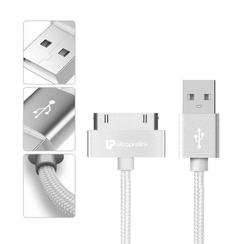 UltraProLink Ul0042 Idock 30 Pin Usb Data Sync   Fast Charging Cable For Iphone 4/4s 1.5m