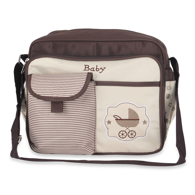 NFI Essentials Newborn Baby Diaper Changing Brown Mother Bag