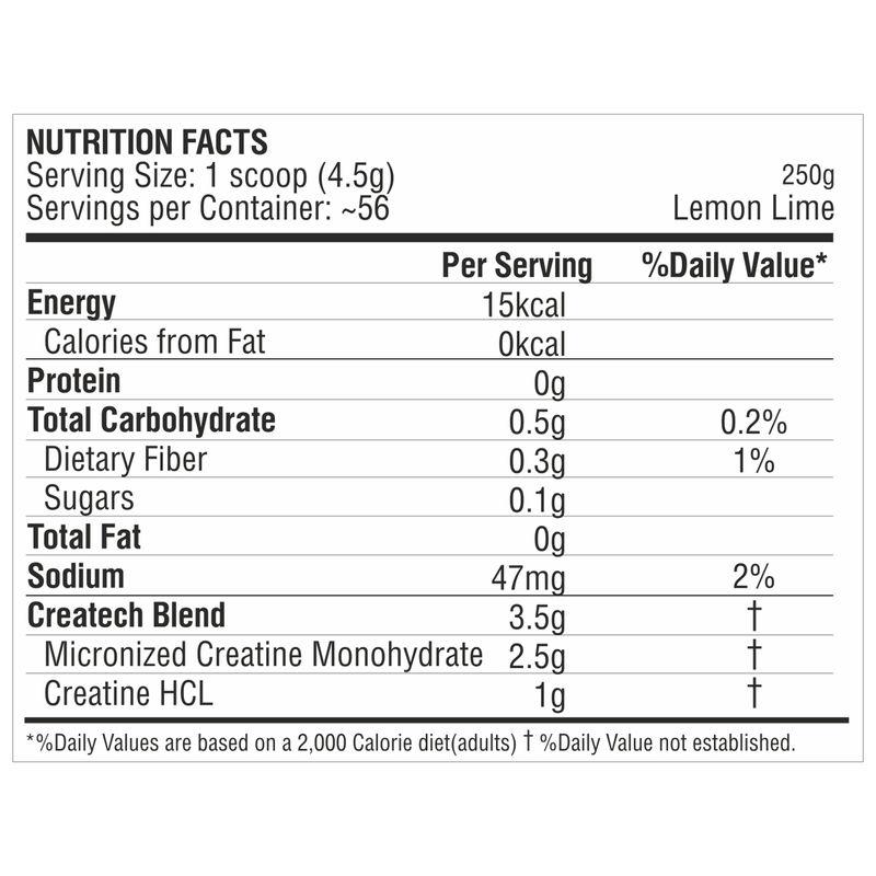 PROCEL Createch Multi-Creatine Lemon-Lime Powder 56 Servings(250gm)