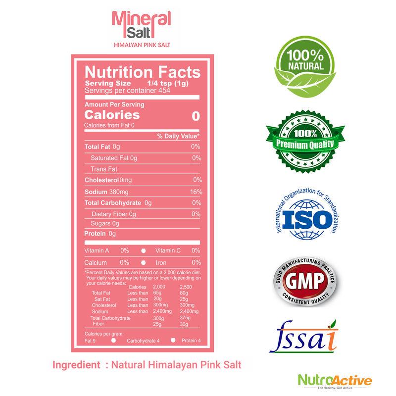 NutroActive Mineral Salt Himalayan Pink Salt Extra Fine Grain (0 5-1 mm)