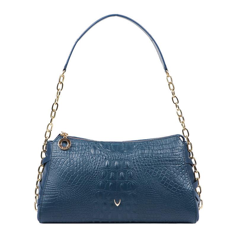 Hidesign Charleston 03 Blue Leather Womens Shoulderbag