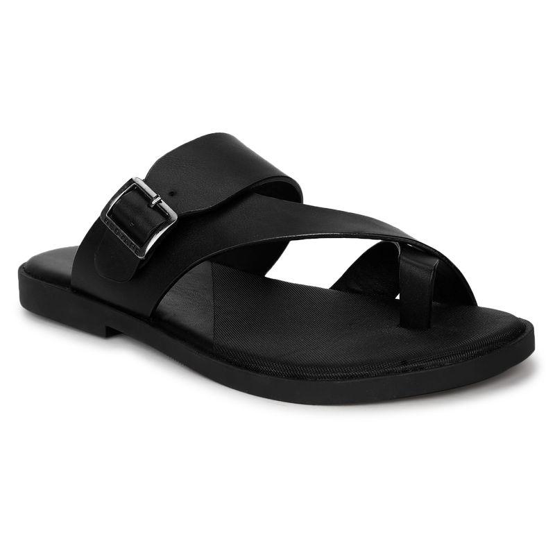 Red Tape Men Black Sandals - UK 7