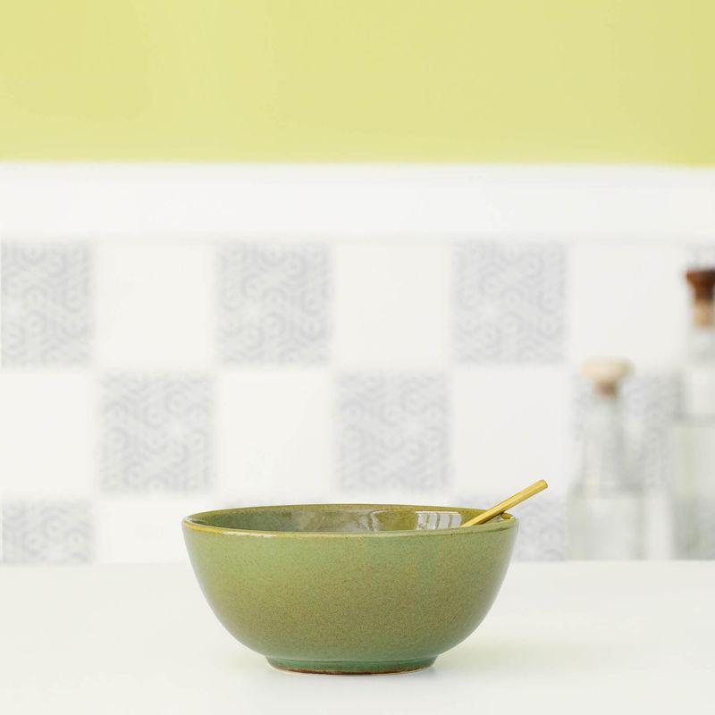 Ellementry Rustic Sage Ceramic Soup Bowl