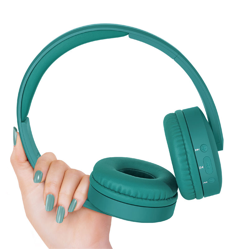 FINGERS Beauté Wireless Headset with built in Mic  Bluetooth, FM, Aux, MicroSD   Emerald Green