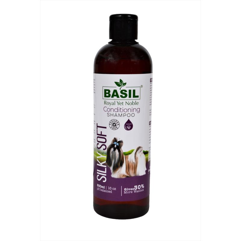 BASIL Silky Soft Conditioning Shampoo for Cats and Dogs