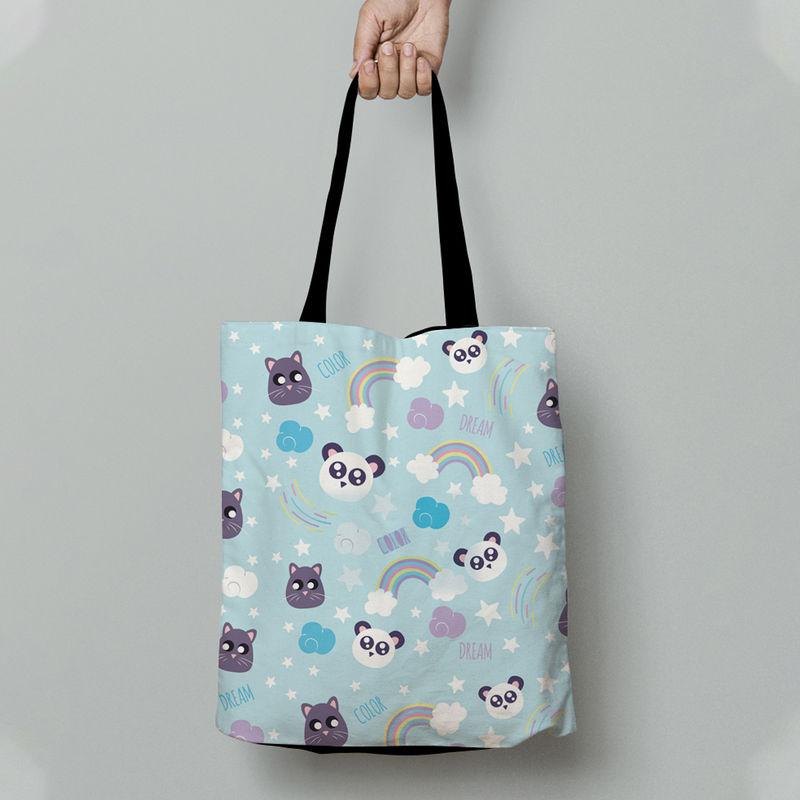 Crazy Corner Joyful Panda Tote Bag