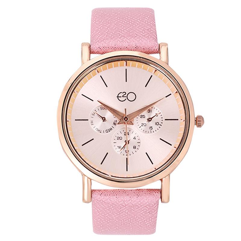 E2O Pink Dial Analog Watch For Women