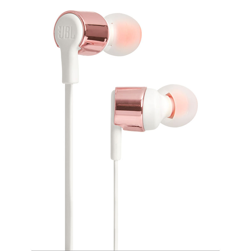 JBL T210 Pure Bass in Ear Headphones with Mic  Gray