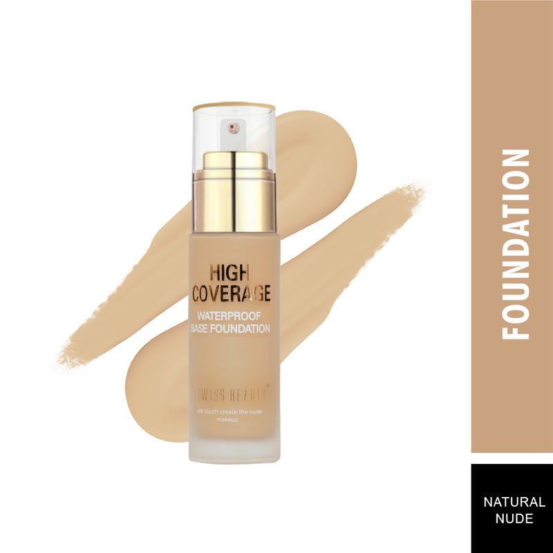 Swiss Beauty High Coverage Waterproof Base Foundation - 04 Natural Nude