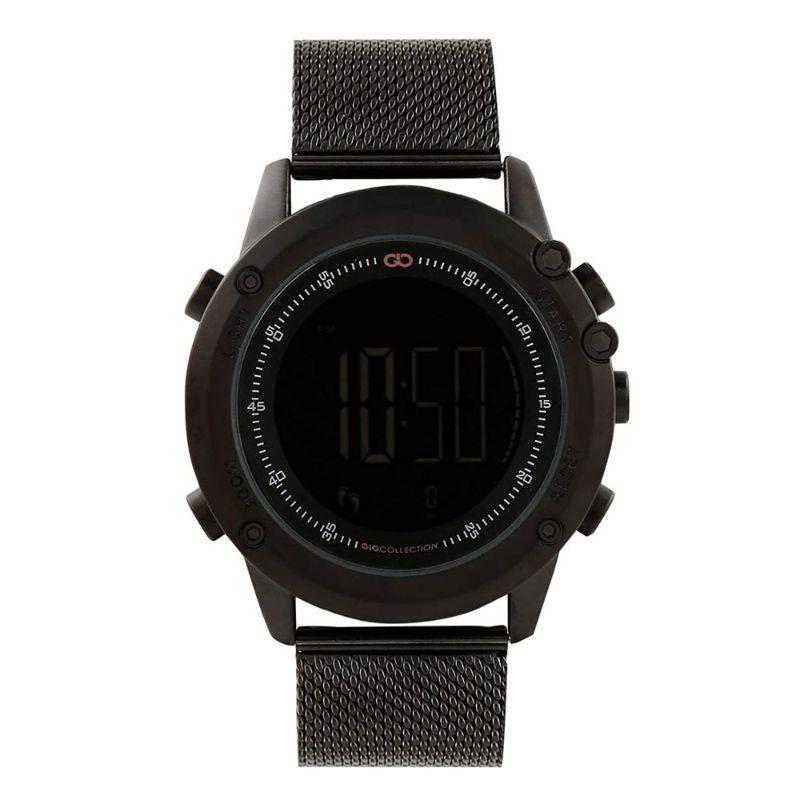 Gio Collection Men's Black Round Digital Watch