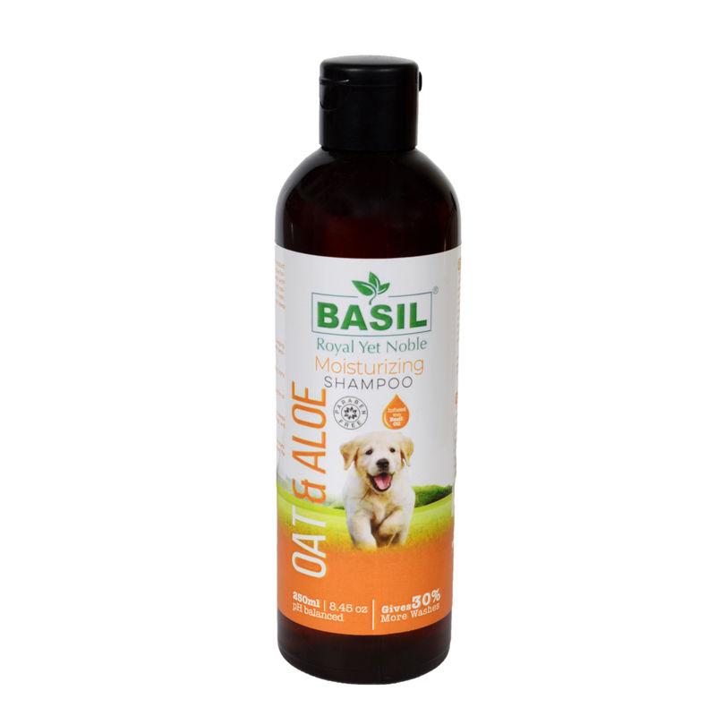 BASIL Oats & Aloe Moisturising Shampoo for Cats and Dogs