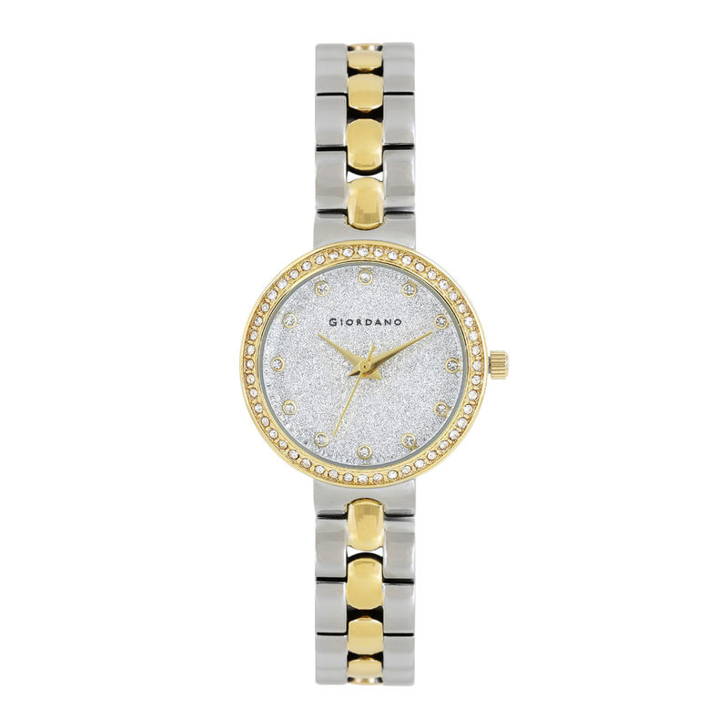 Giordano Analog Silver Dial Women's Watch   A2068 55