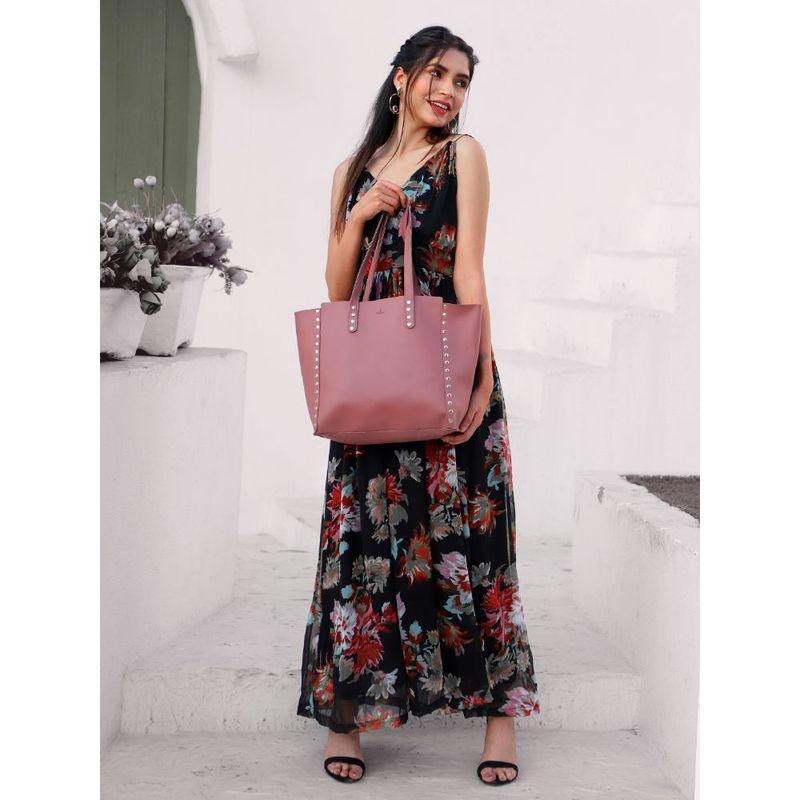 Yelloe Embellished Tote Bag In Pink Pink Hand Held Bag