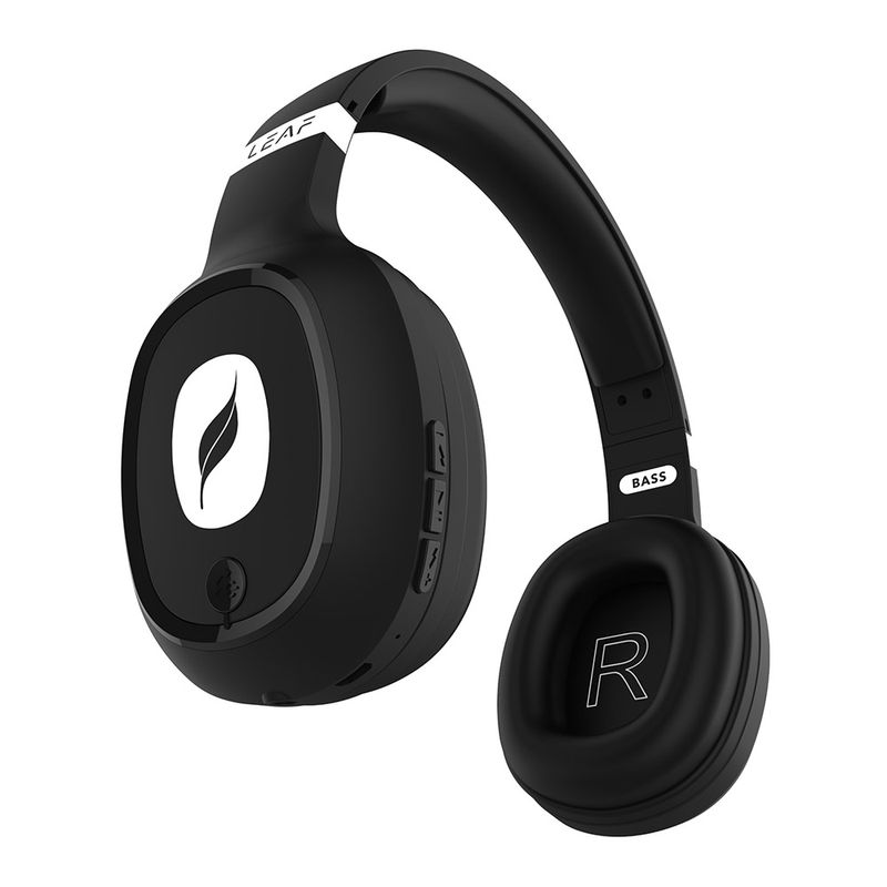 Leaf Bass Wireless Bluetooth Headphones with Hi Fi Mic,10 Hours Battery Life Over Ear Headphones
